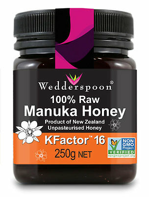 Wedderspoon RAW Manuka Honey KFactor 16 - 250g