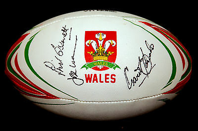 Gareth Edwards, Jpr Williams And Phil Bennett Hand Signed Wales Rugby Ball