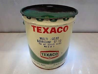 Vintage Original Collector Texaco 5 Gallon Gear Oil Can