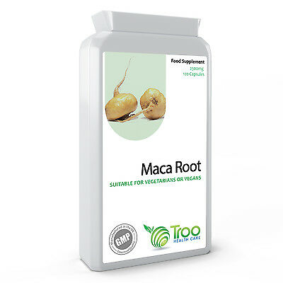 Maca Root Extract 2500mg 120 Capsules - High Strength Maca Powder Supplement