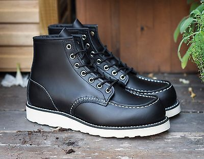 RED WING MOC STYLE NO. 8130 D Black Chrome Leather