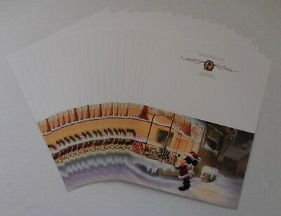 Disneyland Alumni Club Set of 20 Santa Mickey Christmas Cards NEW
