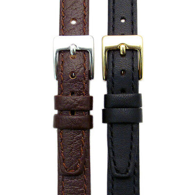 Ladies Genuine Leather Watch Strap Odd Sizes 9mm 11mm 13mm Black or Brown