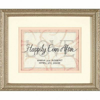 Dimensions - Cross Stitch Kit - Wedding Record - Happily Ever After - D65045
