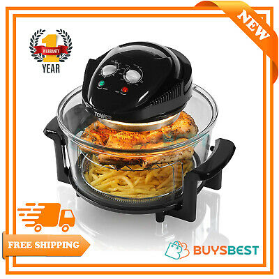Tower T14001 1300W 17L AirWave Low Fat Air Fryer Oil Free Healthy Halogen Cooker