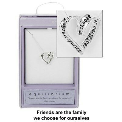 EquIlibrium Friendship Friend Friends Hearts Silver Plated Necklace Chain 49740