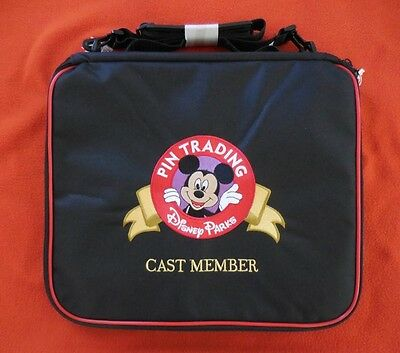 Disney DLR Cast Member Trading Large Pin Bag Mickey Embroidered NEW