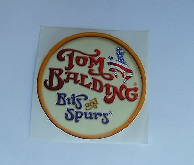 Tom Balding Bits & Spurs Decal NEW