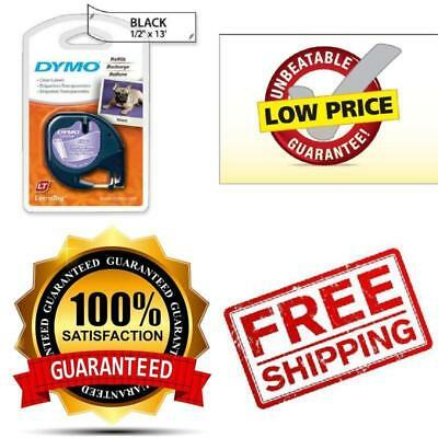 DYMO LetraTag Labeling Tape For LetraTag Label Makers, Black Print On Clear W X