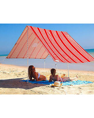 New Hollie And Harrie Sombrilla Sunshade Aluminium Sun Protection Red