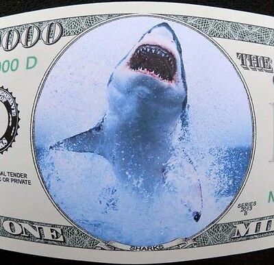 Sharks FREE SHIPPING! Million-dollar novelty bill