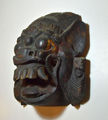 A Vintage Demon mask from Bali, Indonesia