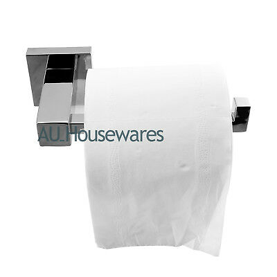 ACA Silver Toilet Paper Roll Holder Hook Stainless Steel Bathroom Wall Mounted