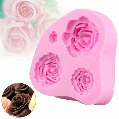 1x Flowers Silicone Cake Mold Chocolate Mould Clay Sugar Craft Fondant Tools