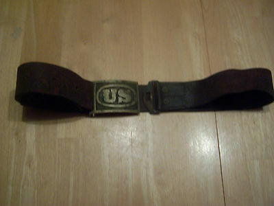 Famous Hagar Belt And Buckle - 1870S - Also Known As Custer Buckle