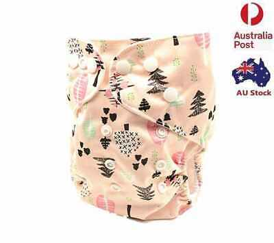New Modern Cloth Nappy Adjustable Reusable FREE Insert MCN Nappies Nappy (D12)