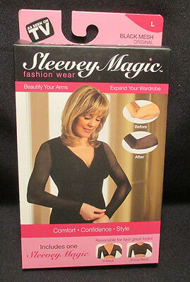 New in Box Sleevey Magic Womens sz L (12-14) Arm Toning Garment ,Arm Slimmer