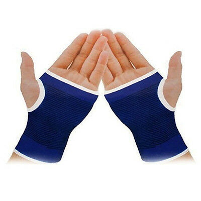 1 Pair Palm Wrist Hand Support Brace Sleeve Sports Bandage Gym Gloves Natural