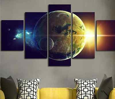 Modern Abstract Oil Painting Wall Decor Art Huge - Landscape universe Earth