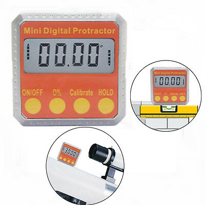 Electronic Digital Inclinometer Angle Gauge Meter Protractor 360° Magnetic Base
