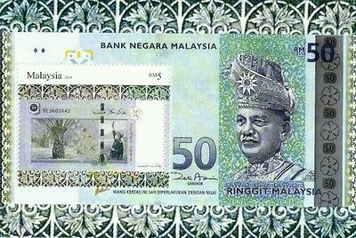 Malaysian Currency, Silver Foil, Malaysia 2010 Money Banknote (ms) MNH unusual