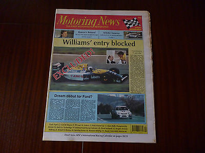 Motoring News 27 January 1993 Cyril De Rouvre,david Kennedy,norman Wilding,monte