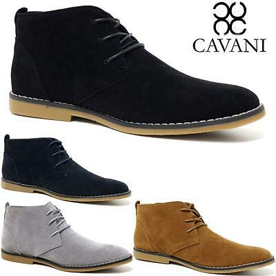 Mens Cavani Desert Boots Suede Casual Lace Up Walking Chukka Ankle Boots Shoes