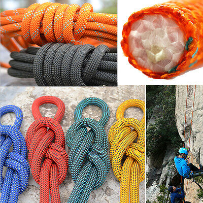 12mm*10m Professional Climbing Main Static Rope Safety Rescue Caving Sling Cord