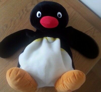 pingu teddy bear soft doll toy rag doll pyjama holder LARGE 50 CM beanie