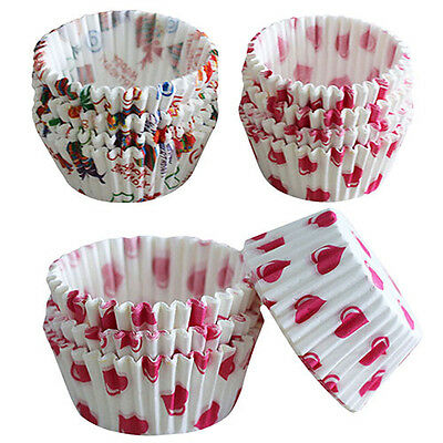 100Pcs Mini Paper Cake Cup Liners Baking Cupcake Muffin Cases Xmas Party Useful