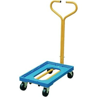 VFM Plastic Dolly with Handle Blue 365127