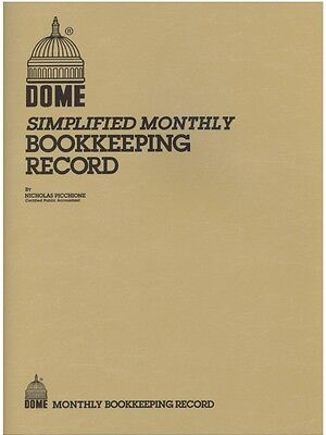 "Dome Monthly Bookkeeping Record Book - 612 - 8-1/2"" x 11"" - TAN Cover"