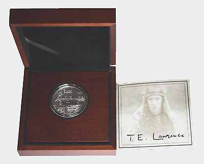 2013 125th Anniversary Of Thomas Edward Lawrence $2 Proof Silver Coin 1 Ounce