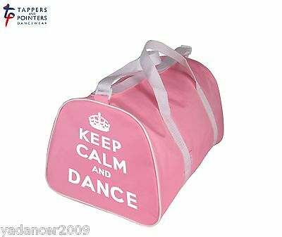 KEEP CALM AND DANCE Barrel Shaped Holdall Bag for dancer in PINK or LILAC