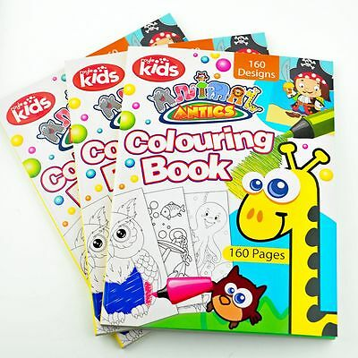 160 Page - Jumbo Activity Animal Colouring Book Kids Fun Gift Pack