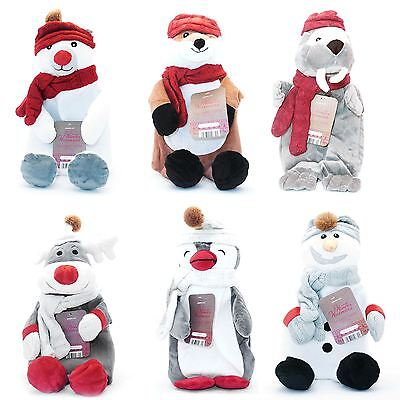 Cute Novelty Animal Hot Water Bottle Soft Cuddly Cosy Warm Bed Winter With Cover