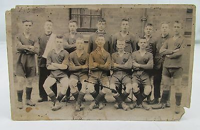 South Staffordshire Regiment Ww1 Football Team Antique Real Photo Postcard Wwi*