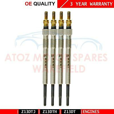 For Vauxhall Corsa C D 1.3 Cdti Brand New Diesel Heater Glow Plugs Set Plug X 4