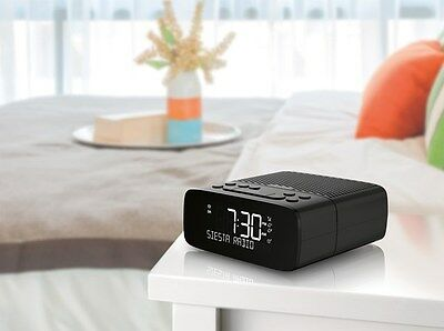 PURE Siesta S2 Digital and FM alarm Clock Radio GRAPHITE