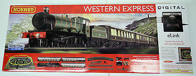 HORNBY 'OO' GAUGE R1184 'WESTERN EXPRESS' DIGITAL TTS SOUND TRAIN SET BOXED#226w