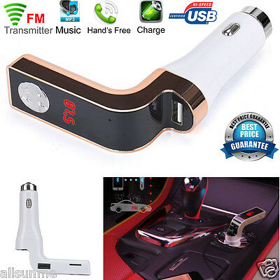 Car Kit Handsfree FM Transmitter Radio Music MP3 Player USB Charging Charger UK