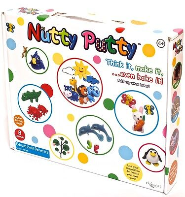 Nutty Putty - 8 Colour Set - Think it, Make it, Even Bake it! 4 years+ #29421