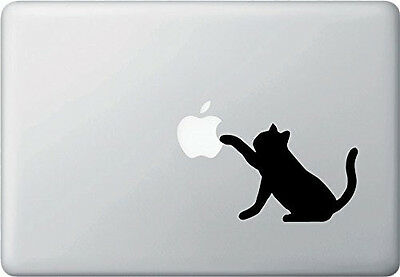 Curious Cat vinyl sticker Mac Book/Air/Retina laptop decal 11 13 15 17""