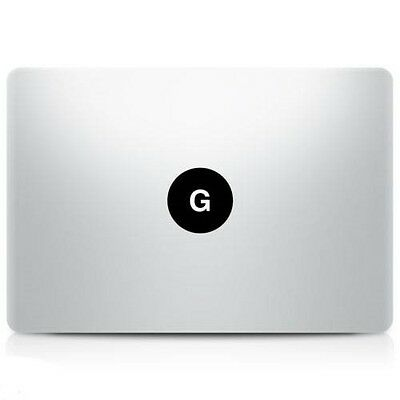 Alphabet letter 'G' Macbook Sticker Laptop Decal Mac Pro Air Retina 11 13 15 17""
