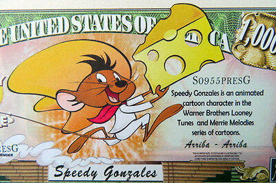 Speedy Gonzales FREE SHIPPING! Million-dollar novelty bill