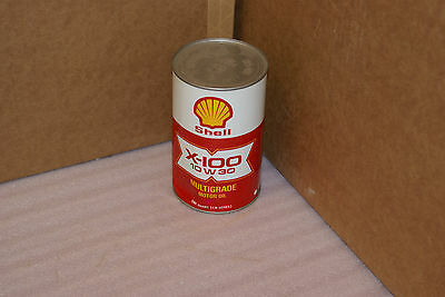 Vintage Shell X 100 Motor Oil Can FULL UNOPENED