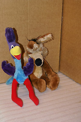 1971 18in Wile E Coyote and Road Runner Warner Bros WB Mighty Star Plush Stuffed