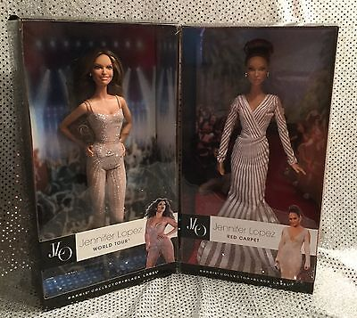 Jennifer Lopez Red Carpet  On Tour Jlo Barbie Dolls 2013 Black Label Y3357 X8287