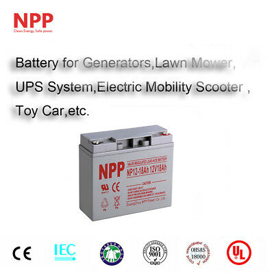 NPP 12V 18 Amp 18Ah 20Ah Replacement For UB12180 D5745 AGM SLA Battery