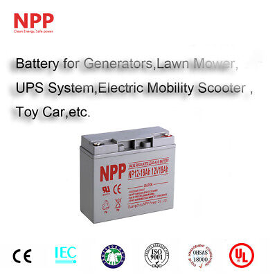 NPP 12V 18Ah Rechargeable Lead Acid  Battery Replacement For UB12180 D5745